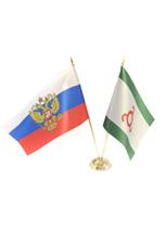 Пара флагов настольных: российский и ингушский