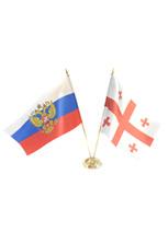 Настольные флаги: российский и грузинский