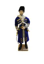 Фарфоровая кукла «Джигит» в синей черкеске