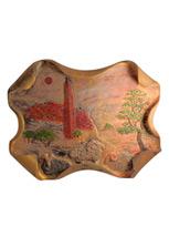 Керамическое панно «Вечер в горном селе»