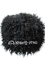 Папаха кавказская черная из козьего меха