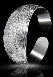 Браслет серебряный работы дагестанских мастеров
