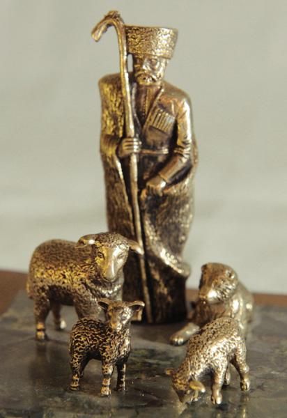 Статуэтка «Пастух» бронзовая