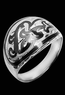 Серебряное кольцо «Трехлистник»