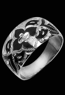 Серебряное кольцо «Узор»