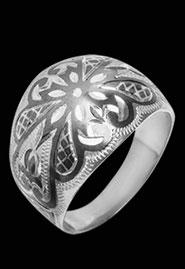 Серебряное кольцо «Звезда»